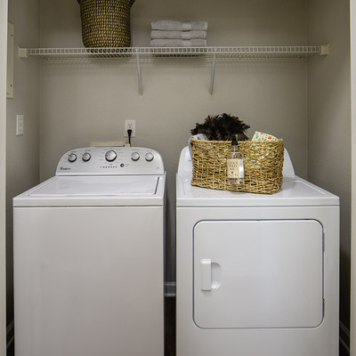 Full-sized washer and dryer