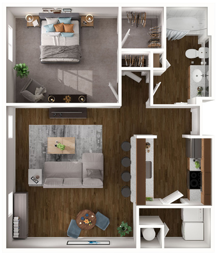 Brookline (Brownstone) floor plan